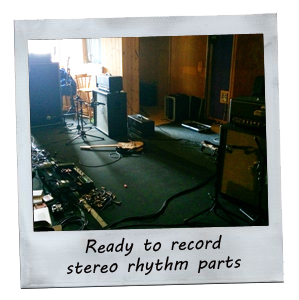 Ready to record stero rhythm parts