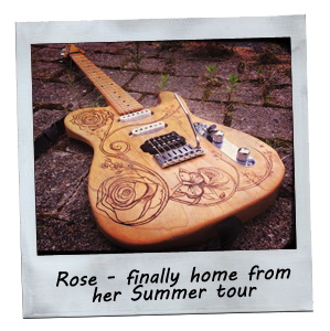 Rose - finally home from her Summer tour